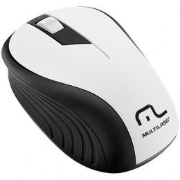 Mouse sem Fio Multilaser MO216 2.4GHZ Preto e Branco Usb 1200DPI Plug And Play