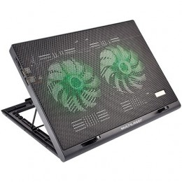 Suporte para Notebook Multilaser AC267 Warrior Power Gamer Led Verde Luminoso
