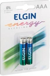 Pilha Alcalina AAA Elgin Lr03 Com 2 pilhas