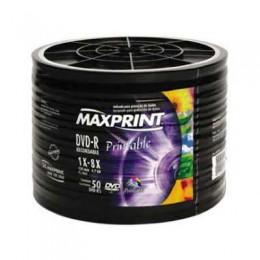 Midia DVD-R Maxprint Printable Tubo 50 Unidades DVD Imprimivel