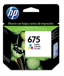 Cartucho HP 675 CN691AL Tricolor 9ml