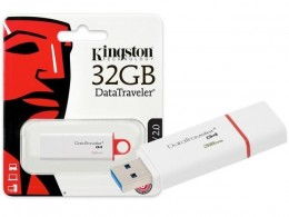 Pen Drive 32gb Kingston Dtig4/32gb Datatraveler Vermelho Usb 3.0