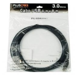 Cabo Usb Plus Cable 2.0 A-MACHO X B-MACHO 3.0 Metros para Impressora