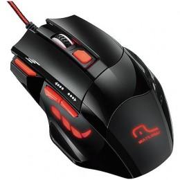Mouse Usb Multilaser MO236 Xgamer Fire Button Usb 2400DPI Preto e Vermelho