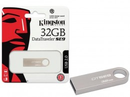 Pen Drive 32gb Kingston Dtse9h/32gbz Data Traveler SE9 32gb Prata