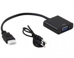 Cabo Conversor HDMI M X VGA F + Audio Hitto