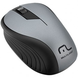 Mouse sem Fio Multilaser MO213 2.4GHZ Preto Grafite Usb 1200DPI Plug And Play