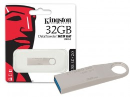 Pen Drive 32gb Kingston 3.0 Dtse9g2/32gb Usb Datatraveler Prata