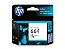 Cartucho HP 664 F6V28AB HP 664 Tricolor 2,0 Ml
