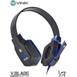 Fone Headset Vinik Gamer V Blade Linha Vx Preto e Azul
