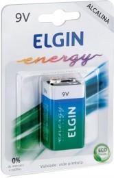 Bateria 9V Alcalina com 1 Unidade HT01 82158 - Elgin