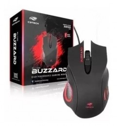 Mouse USB C3tech Mg-110bk Gamer Buzzard 3200dpi