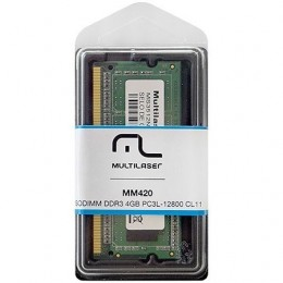 MemOria Multilaser Sodimm DDR3 4gb PC3L-12800 MM420