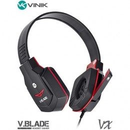 Fone Headset Vinik Gamer V Blade Linha Vx Preto e Vermelho