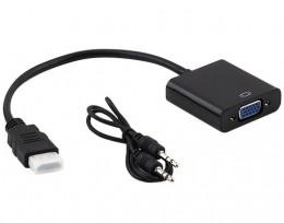 Cabo Conversor HDMI Macho para VGA Femea Mxt Com Audio