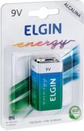 Pilha Bateria 9v Alcalina Elgin 6lr61