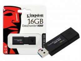 Pen Drive 16gb Kingston Dt100g3/16gb Datatraveler Usb 3.0