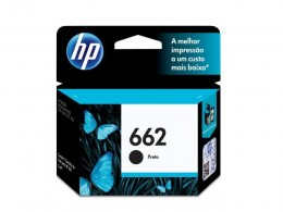 Cartucho HP 662 Preto CZ103AB 2ml Original HP