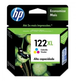Cartucho HP 122XL Colorido CH564HB Alto Rendimento