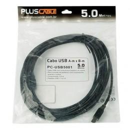 Cabo USB 2.0 Am X Bm Pluscable Usb-5001 5m
