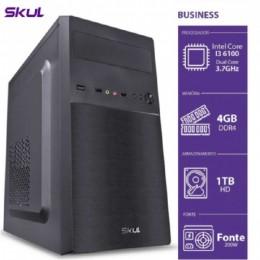 Computador Skul Business B300 I3-6100 4gb Hd 1tb Linux