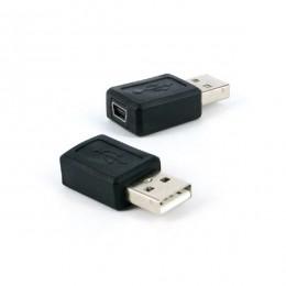 Adaptador USB a Macho X Mini USB Femea 5 Pinos