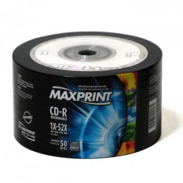 Midia CD-R Maxprint Tubo com 50 Unidades