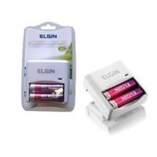 Carregador Baterias C/2 Pilhas AA Elgin Sc222