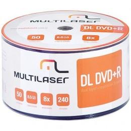 Midia Dvd-r Dual Layer Multilaser C/ 50 Dv047