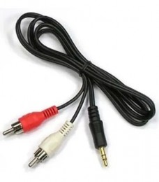 Cabo Audio RCA para P2 2,0m Gold