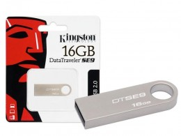 Pen Drive 16gb Kingston Dtse9h/16gbz Data Traveler SE9 Prata