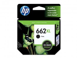 Cartucho HP 662XL Preto CZ105AB 6,5ml Alto Rendimento