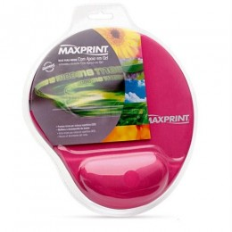 Mouse Pad Maxprint Rosa com Apoio Em Gel
