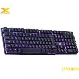 Teclado Usb Vinik Vx Gaming Hydra 107 Teclas + 12 MultimIdia com Backlight Em 03 Cores Sensacao Tecla Mecanica