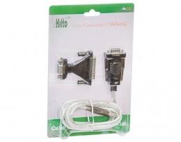 Cabo Conversor Usb para Porta Serial RS232 Hitto U/RS232B com Adaptador DB9 DB25