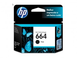 Cartucho HP 664 F6V29AB HP 664 Preto 2,0 Ml