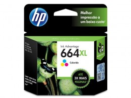 Cartucho HP 664XL F6V30AB Tricolor 8,0 Ml