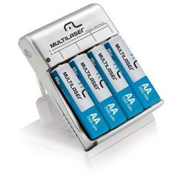 Carregador Baterias C/4 Pilhas Multilaser Cb054