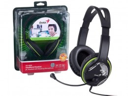 Fone Headset com Microfone Genius HS-400A Headband Verde